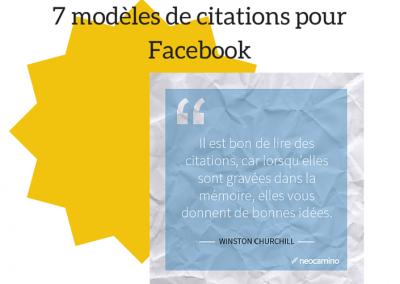 modèle facebook